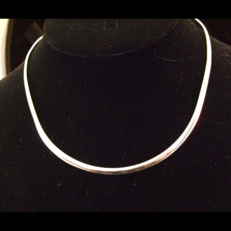 Plain Polished Sterling Silver Collar