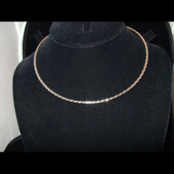Refined Twisted Sterling Silver Collar