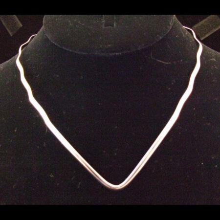 Wavy V Sterling Silver Collar