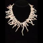 Angel Skin Pink Branch Coral Handmade Necklace