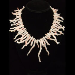 Angel Skin Pink Branch Coral Handmade Necklace