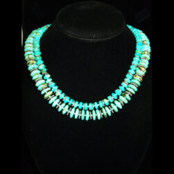 Turquoise 2 strand beaded necklace