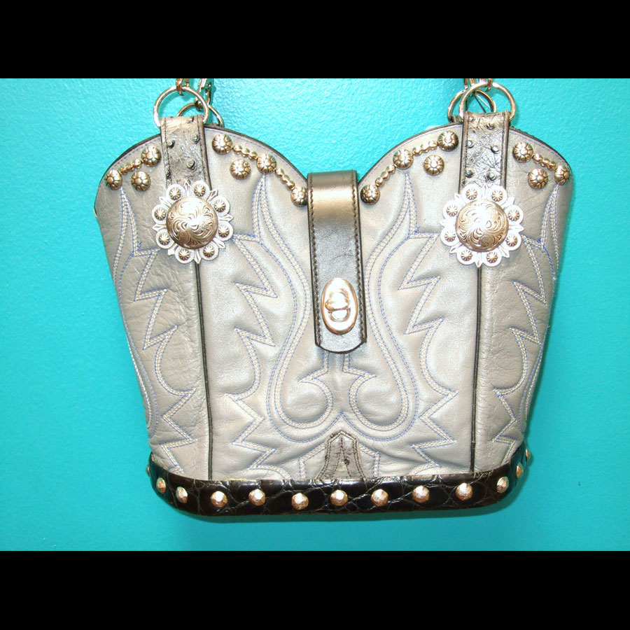 Cowboy Boot Handbag Purse