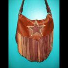 Handmade Leather Fringe Purse