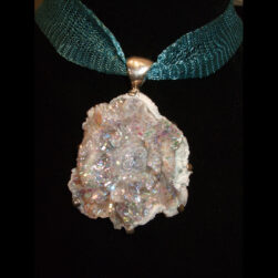 Druzy Quartz Silver Pendant