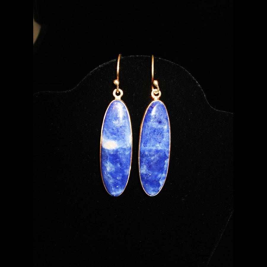 Sodalite Sterling Silver Earrings