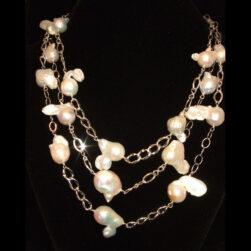 Baroque Pearl 3 strand necklace