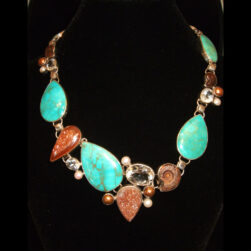 Turquoise, Ammonite Necklace