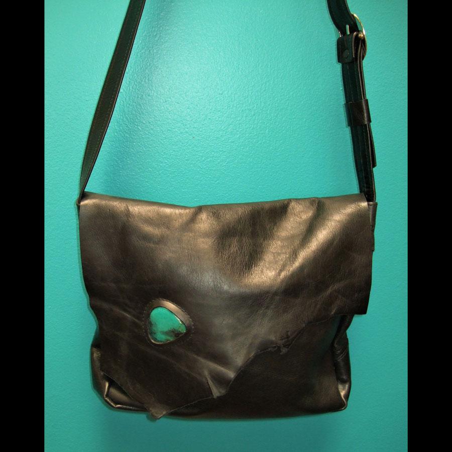 Leather Handbag Turquoise Stone