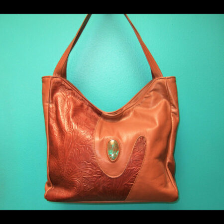 Handmade Leather Purse with Turquoise