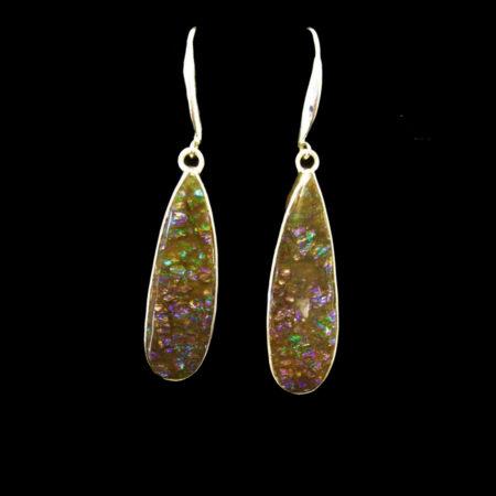 Ammolite Sterling Silver Earrings