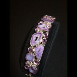Purple Agate, Amethyst Bracelet