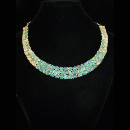 Ethiopian Opal Multi-Gemstone Necklace