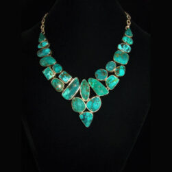 Turquoise Multi-gemstone Sterling Silver Necklace