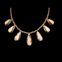White Buffalo Stone Necklace and Earring Set